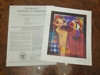 CHARLES LEE- Duet Night- Seriolithograph Signed- Park West COA