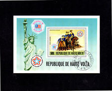 BURKINA FASO #C244  1976  AMERICAN BICENTENNIAL  MINT  VF NH  O.G  S/S  CTO