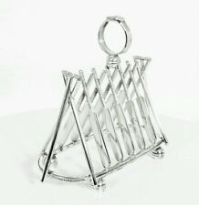 Large Silver Plated Letter / Toast Rack Crossed Cricket Bats EPNS