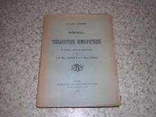 1920.mémorial thérapeutique homéopathique / Jousset.homéopathie