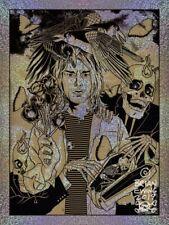 Foo Fighters -Nirvana -Kurt Cobain -Poster -Brian Ewing Ap! - Gold Variant Foil