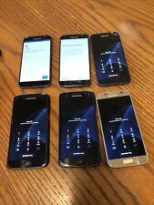 New listing Lot Of 6 Samsung Galaxy S7 G930V Gsm Unlocked Smartphones All Need Bypass Cracks