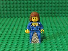LEGO Female Minifigure Blue Gold Dress Fantasy Era Queen Princess Castle 7079 W7
