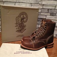 $490 TIMBERLAND BOOT COMPANY® SMUGGLER'S NOTCH 8-INCH CAP TOE BOOTS. SIZE:10