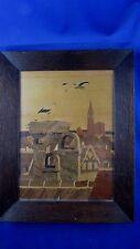 tableau marqueterie straub alsace art populaire alsacien vers 1940 strasbourg
