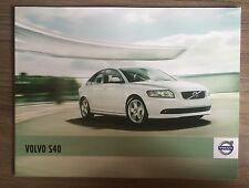 VOLVO S40 CAR BROCHURE 2010 RANGE. R DESIGN DRIVe D4 4 DOOR SALOON