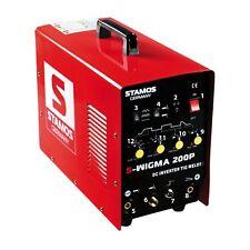 STAMOS Wig/Tig MMA Puls Schweißgerät Dc Inverter Hf Pulsfunktion 230V 200A Kabel