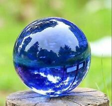 New Blue Asian Rare Natural Quartz Magic Crystal Healing Ball Sphere 40mm+Stand