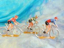 3 figurines de cyclistes en aluminium COFALU - SALZA ? Lot 4 (ref V33)