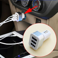 Universal Accessories 3 Ports USB Car Charger Power Socket For Smart Phone Parts