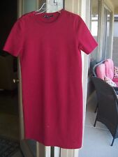 Authentic Gucci Red Cotton GG Logo Dress Size S $1300