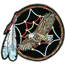 Embroidered Eagle Dreamcatcher Feather Sew or Iron on Patch Biker Patch