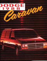 1988 Dodge Caravan Van 16-page Original Canada Car Sales Brochure Catalog
