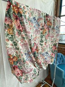 VTG Allison Ralph Lauren Full Fitted Bed Sheet Flower Floral EUC