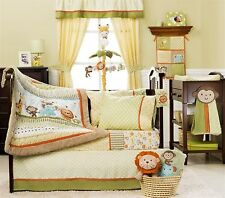 Kidsline Baby Bedding Crib Cot Sheet Pillow case Set -- 6 Piece Safari Party New
