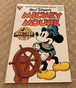 Walt Disney's Mickey Mouse No. 244 January 1989 60th Anniversary Special Comic B