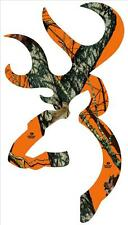 16'' Back glass Camo Buck Head Sticker Decal, message me on which one you want.