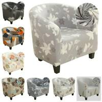 Home Tub Chair Cover Floral Elastic Armchair Single Sofa Chaircover Slipcover