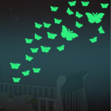 12Pcs Butterfly Decoration Glow In The Dark Stickers Luminous Wall Decal