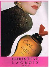 """Publicité Advertising 1992 Parfum """"C'est la Vie!"""" de Christian Lacroix"""