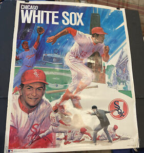 SCARCE 1971 BASEBALL PROMOTIONS/MLB~CHICAGO WHITE SOX~23x29 INCH~POSTER PREM.