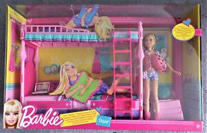 Mattel Barbie Hochbett mit Stacie original Verpackung -Schwesternschlafzimmer