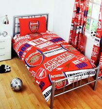 ARSENAL FC DUVET PILLOW CASE QUILT COVER SINGLE BOYS  BEDDING SET PT AFC