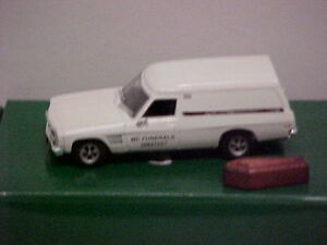 MODIFIED CLASSIC CARLECTABLES 1/43 1974 HOLDEN HQ  PANEL VAN HEARSE MC FUNERALS