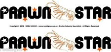 "BOAT NAMES GRAPHIC DECAL STICKER  KIT ""PRAWN STAR"""