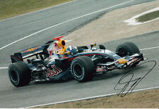 David Coulthard mano firmato RED BULL RACING FOTO 12X8 3.