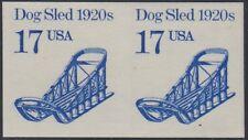 "#2135a 17¢ ""DOG SLED"" IMPERF PAIR MAJOR ERROR CV $375.00 BR1470"
