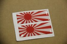X2 JAPANESE JAPAN RISING SUN FLAG JDM DECAL CONSOLE FENDER DASH EMBLEM BADGES