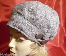 Mütze Wolle ✿ Bonnet ✿ WOLLMÜTZE Atelier GRAU BROSCHEN Hut Hat Chapeau