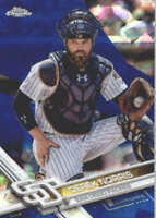 DEREK NORRIS 2017 TOPPS CHROME SAPPHIRE EDITION #92 ONLY 250 MADE