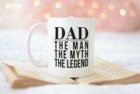 Gift For Dad Coffee Mug Dad The Man The Myth The Legend New Dad Statement Mug