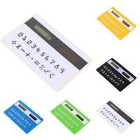 Digits Ultra Mini Slim Credit Card Size Solar Power Pocket Calculator Small LJ