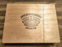 Vintage Joya de Nicaragua Wooden Cigar Box Fabrica De Tabacos Numero 6 Imported