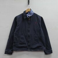 Vintage Polo Ralph Lauren Light Work Jacket Youth Large 14-16 Navy Blue Pony