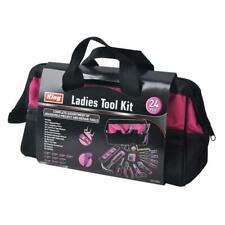 complete home pink tool kit with bag (24-piece)