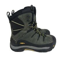 Keen Summit County Winter Boots Grey Insulated Mens Size 9.5 Waterproof Outdoor