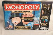 HASBRO MONOPOLY Ultimate Banking Board Game ~ Missing 2 player tokens