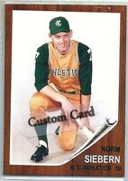 NORM SIEBERN KANSAS CITY ATHLETICS 1962 STYLE CUSTOM MADE BASEBALL CARD BLANK