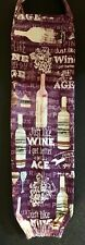 """Wine And Glasses Grocery Storage Bag Holder 20"""""""