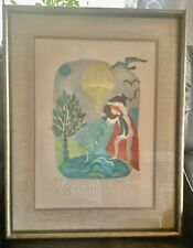 The Zodiac Capricorn  by Erte  Giclee Canvas Print Repro