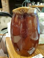 """Vintage Brown Drip HULL USA Oven Proof 6.75"""" Large Pitcher Pottery - Excellent"""