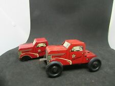 2 Vintage Courtland Walt Reach Wind-Up  Truck Cabs - parts and/or repair