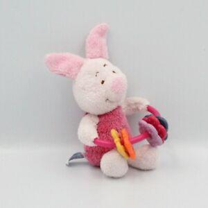 Doudou cochon rose Porcinet hochet DISNEY - Cochon Hochet