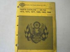 Vintage 1970-1986 Harley XR750 Parts Catalog 99442-72RG