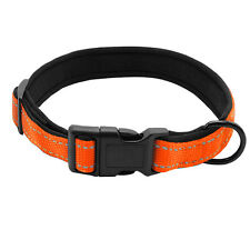 Soft Nylon Reflective Padded Cheap Dog Collars Red Blue Green Orange S L XL XXL