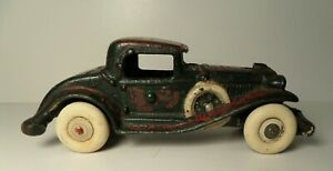 """Vintage 1930's A.C. Williams Cast Iron Sports Coup w/ Rumble Seat   6.5""""  Arcade"""